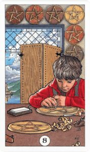 8-of-pentacles-8