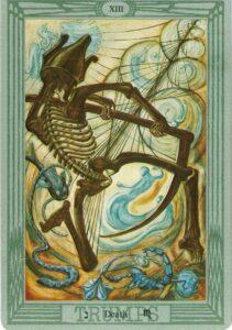 """Карта Аркана """"Смерть"""" из колоды Алистера Кроули - Таро Тота"""