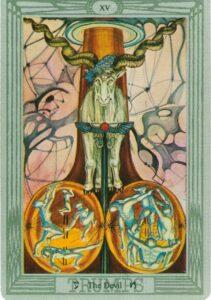 """Карта Аркана """"Дьявол"""" из колоды Алистера Кроули - Таро Тота"""