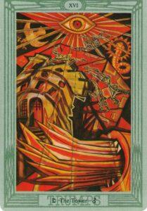 """Карта Аркана """"Башня"""" из колоды Алистера Кроули - Таро Тота"""