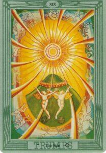 """Карта Аркана """"Солнце"""" из колоды Алистера Кроули - Таро Тота"""