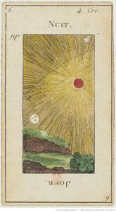 """Карта Аркана """"Солнце"""" из колоды Таро Эттейлы"""