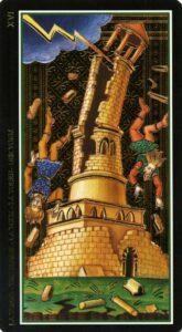 """Карта Аркана """"Башня"""" из колоды Таро Висконти-Сфорца"""