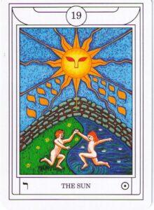 "Карта Аркана ""Солнце"" из колоды Таро Ордена Золотой Зари"