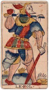 """Карта Аркана """"Шут"""" из колоды Марсельское Таро 1650 г"""