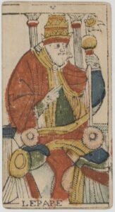 "Карта Аркана ""Верховный Жрец"" из колоды Марсельское Таро 1650 г"