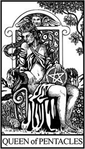 Королева Пентаклей - младший Аркан Таро