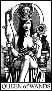 Королева Жезлов - Малый Аркан Таро